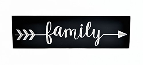 MRC Wood Products Family Arrow Carved Wooden Decorative Sign 5x18