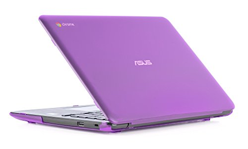 iPearl mCover Hard Shell Case for 13.3 ASUS Chromebook C300MA / C300SA series laptop (Purple)