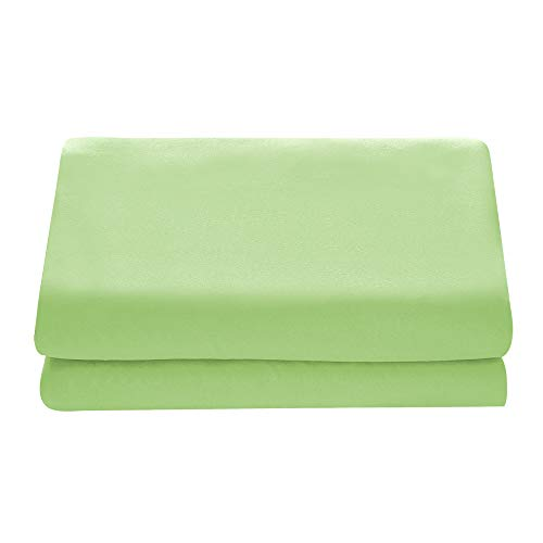 - Comfy Basics 1-Piece Ultra Soft Flat Sheet - Elegant, Breathable, Lime Green, Queen