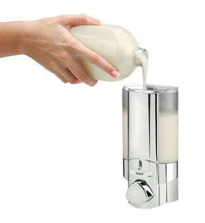 Amazon.com: Aviva Design Soap Dispenser I Chrome Wall Mounting - 1 Chamber: Home & Kitchen