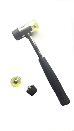Marketty Tool 25mm Dual Head Nylon Rubber Hammer Jewelers Metal Mallet and Two Conversion Head