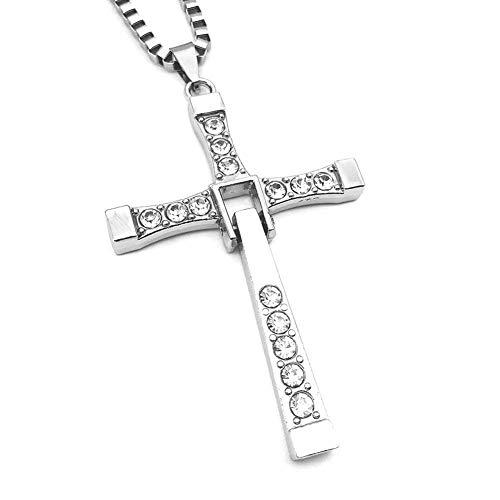 In Croce Inox Per Acciaio Pendente Collana Uomini Gli 6nxHgwW