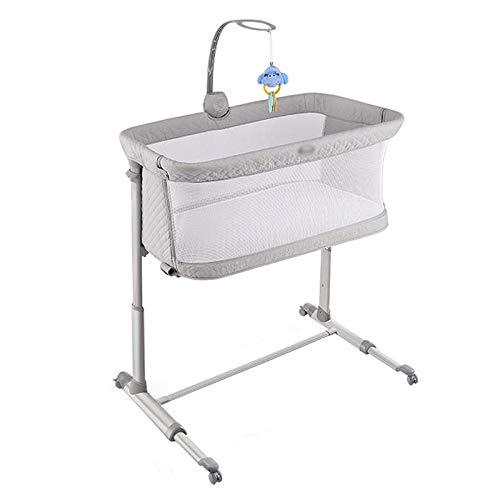 Balance Bouncer Cradle Bedside Cot Portable Infant Baby Travel Crib Children's Cradle Multi-Function Mobile Folding Baby…