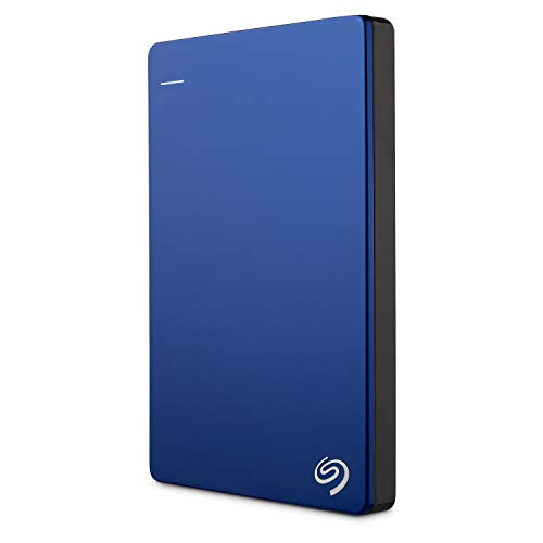 Seagate Backup Plus Slim 2TB External Hard Drive Portable HDD - Blue USB 3.0 for PC Laptop and Mac, 2 Months Adobe CC Photography (STDR2000102) (2tb External Hard Drive Without Power Supply)
