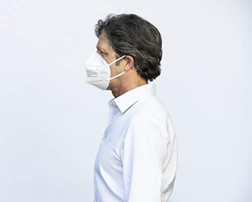 COVAFLU KN95 Disposable Fold Flat Face Mask (Pack of 10 KN95 Face Masks) 31Wzl8YZ4VL