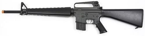 jg m16a1 vietnam aeg airsoft rifle with full stock – black Airsoft Gun