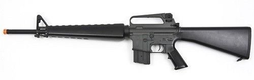 jg m16a1 vietnam aeg airsoft rifle with full stock - black(Airsoft Gun) -