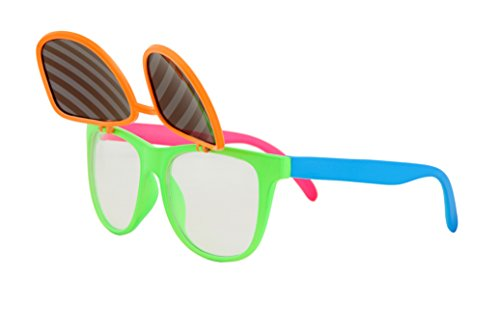 Flip Up Neon Hipster Costume Glasses for Men by elope - http://coolthings.us