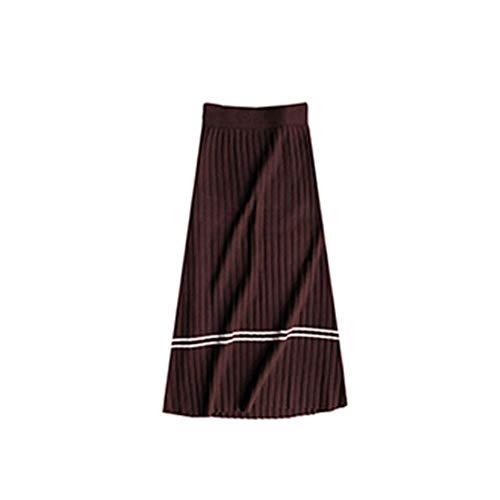 Cafeína De Suéter 's 2018 Cintura Larga Women Sports Punto Otoño Deep Falda Fashion T8Tq7CZw