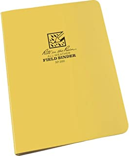 """product image for 1/2"""" Six Ring Field Round Binder,Yellow/Silver"""