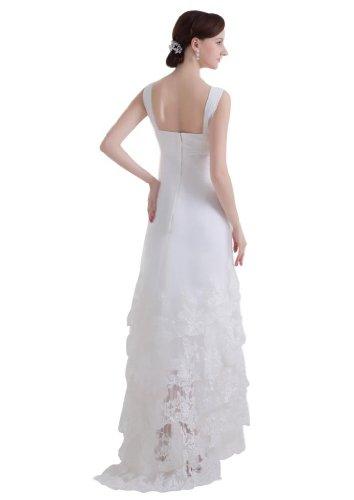 40 Taille Bride George Plage D'¨¦t¨¦ De Robe Nouveau Concepteur Blanc Couleur Le Plus Perl¨¦e Dentelles Mari¨¦e HTTqpf