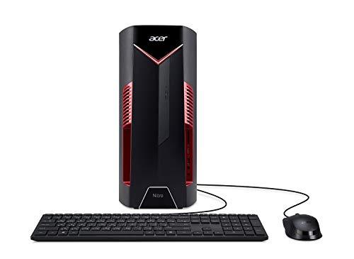 Acer Nitro 50 N50-600-UR1H Desktop, 9th Gen Intel Core i5-9400F, NVIDIA GeForce GTX 1650 Graphics with 4GB GDDR5, 8GB…