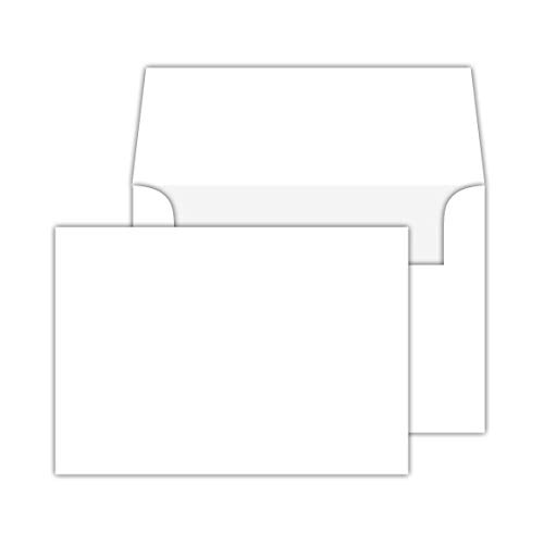 White Heavy Blank Note Cards and Envelopes, 4-1/2 X 6-Inches, Pack of 50. this is Not a Fold Over Card. ()