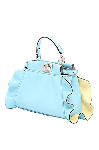 clear Fendi Bag Shoulder Woman Blue 8m0355s3zf06mz Mcf Leather YcTSRq55v