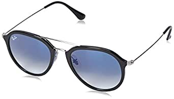 Ray-Ban Injected Unisex Sunglass Square, BLACK 53 mm
