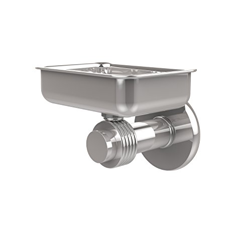 Allied Brass 932G-PC Mercury Collection Wall Mounted Soap Dish with Groovy Accents Polished ()