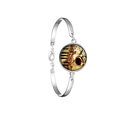 saxophone-musical-instrument-jewelry-glass-dome-bracelets-bangle