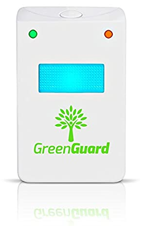 GreenGuard Ultrasonic Pest Control (4-Pack)-Indoor Repellant for Mice, Mosquitos, Roaches, Spiders, Insects, & Rodents - Ecofriendly Bug Repeller-Children & Pet Safe, Non-Toxic, UPGRADED