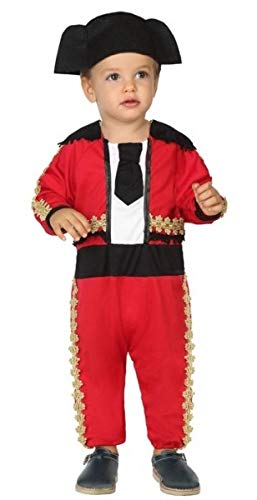 Baby Boys Girls Spanish Matador Bull Fighter Around The World Fancy Dress Costume Outfit (6-12 Months)]()