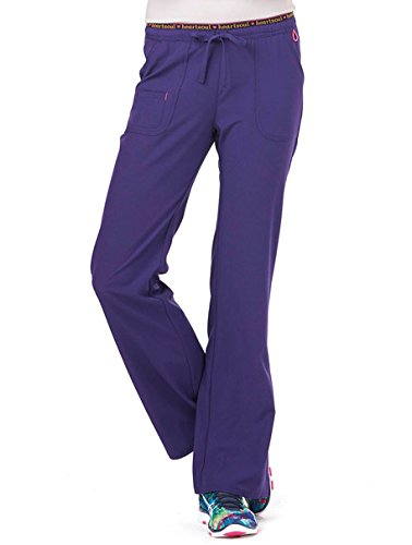 HeartSoul Scrubs Women's 20110 Heart Breaker Low Rise Drawstring Pant- Grape- Medium