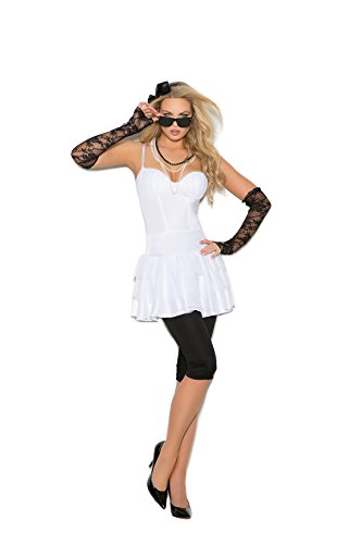 Rockstar Costume Ideas For Adults (Women's Sexy 80's Pop Star Cosplay Costume Set)