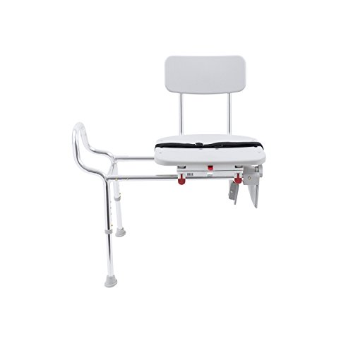 Eagle Health Supplies Tub-Mount Swivel Sliding Shower Transfer Bench, No Tool Assembly by Eagle Health Supplies (Image #2)
