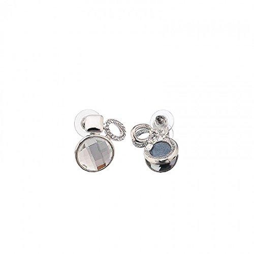 azzaria... glamerous Collier plastron et boucles d'oreille en cristal transparent... Disposition Centre Longueur: 20cm... Longueur du collier: 13–16cm... Longueur de boucle d'oreille: 3cm