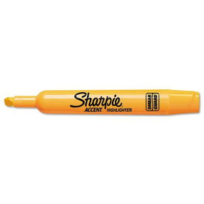 - Sharpie Major Accent Highlighter - Marker Point Style: Chisel - Ink Color: Fluorescent Orange - Barrel Color: Orange - 12 / Dozen