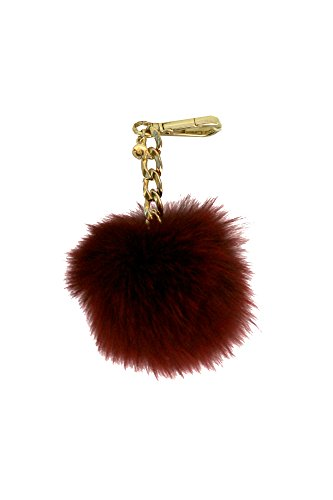 - Michael Kors Medium Fur Pom Pom Charm Keychain FOB CHERRY