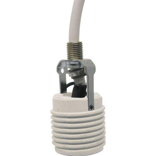 Progress Lighting P8625-30 Cord Extender, White (Wall Porcelain Pocket)