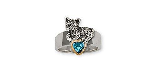 Yorkshire Terrier Sterling Silver Handmade Ring