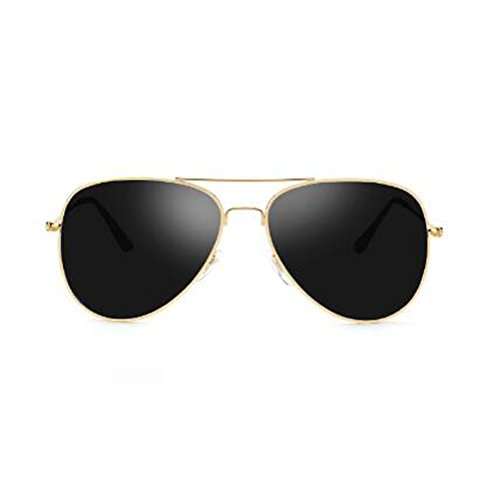 Sol Gold UV frame Blue Gafas UV400 de Sol Conductores para Ojos Moolo Antideslumbrante Frame Antideslumbrante Hombre Gafas Redonda HLMMM black gray para Dark Parejas Silver Protección de polarizadas Cara Color Mujer pqTtftx