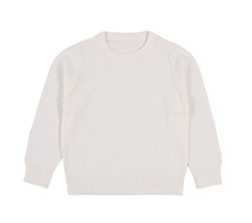 TAIYCYXGAN Baby Toddler Boys Girls Pullover Sweaters Unisex Kids Winter Kint Sweatshirts Cotton Clothes White 90