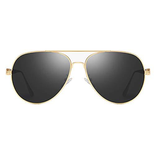 - lydbd Men's Polarized Sunglasses, Outdoor Driving Fishing Glasses, Vintage Cycling Sunglasses, Gold Border/Black Grey