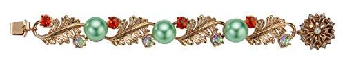 MAWI Londres cristal clouté nœud sur bracelet avec perles
