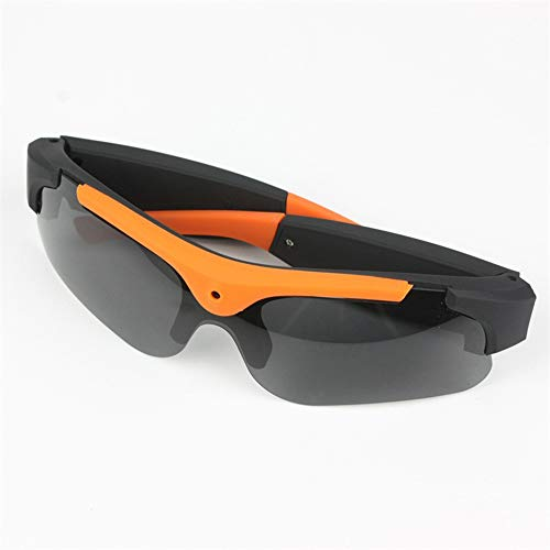 Zhoumin Sports Smart Glasses 1080P HD Camera Video Glasses Suitable for Outdoor Riding Fishing,Orange