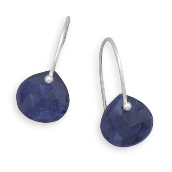 Rough-Cut Sapphire Earrings