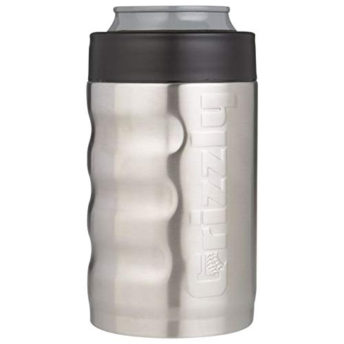 Grizzly 450110 Grip Can Koozie 12oz Stainless Steel