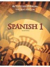 Spanish 1 for Christian Schools: Activities Manual Teacher Ed. (Bob Jones) PDF