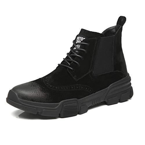 - Giles Jones Motorcycle Boots for Men Autumn Winter Non-Slip Wear-Resisting Combat Boots