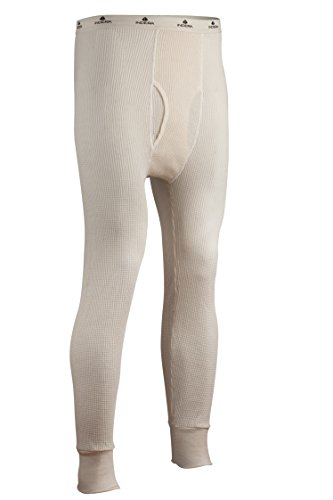 Indera Men's Tall Cotton Heavyweight Thermal Underwear Pant, Natural, Large (Heavy Thermal Underwear Men)