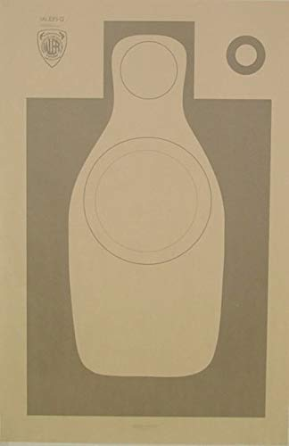 (20x) IALEFI-Q , Official Training Shooting Target, International Association of Law Enforcement Firearms Instructors, 22.5
