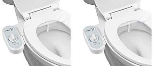 Greenco Bidet Fresh Water Spray Non-Electric Mechanical Bidet Toilet Seat Attachment (2-(Pack))