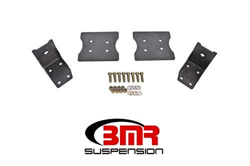 (BMR 79-04 Fox Mustang Lower Torque Box Reinforcement Plates - Black)