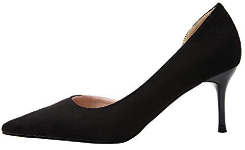 Hauts Noir BIGTREE de D'Orsay Pointu Sandales Mariage Fête Suède Talons Escarpins Femmes 1Pgwv1F