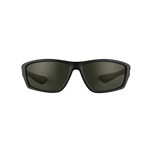 Eddie Bauer Unisex-Adult Ketchum Polarized Sunglasses, Black Regular ()