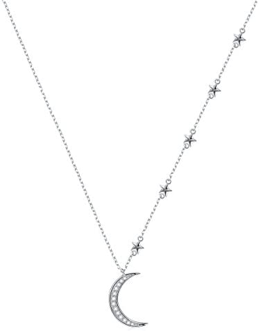 Sterling Jewelry Crescent Pendant Necklace product image
