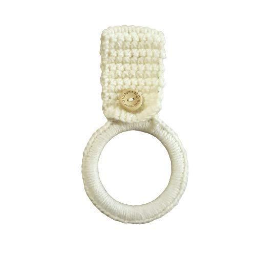 White Crochet Hanging Dish Towel Holder, Kitchen Decor