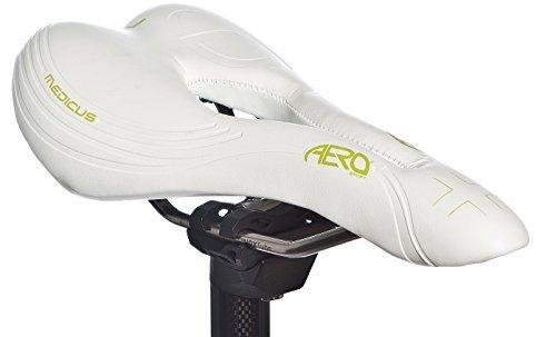Aero Sport Bicycle Bike Gel Medicus Gents MTB Racing Saddle INOX Rails by Aero Sport