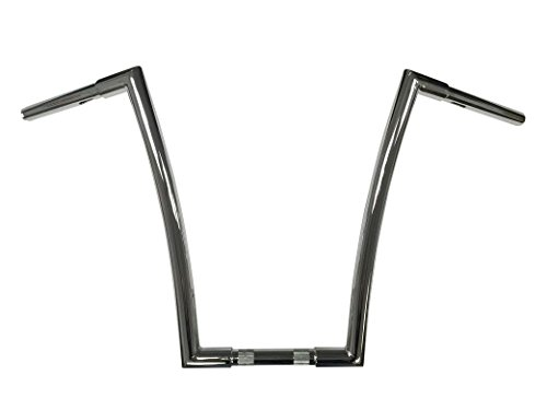Dominator Industries 1 1/4 inch Miter Cut Ape Hanger, 16 inch Rise, Chrome for 1996-2018 Dyna, Softail, Sportster and 1998-2013 Road Glide by Dominator Industries